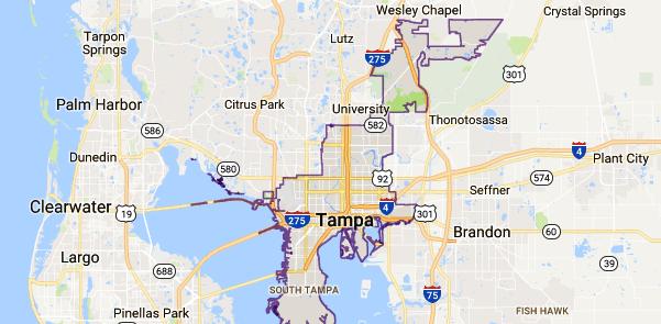 Tampa, FL Map - Event Technology Rentals