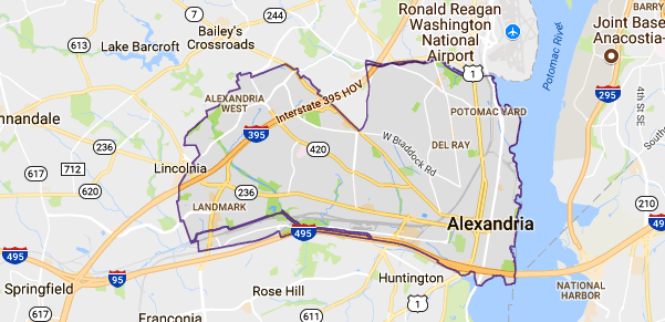 Map Of Alexandria Va Alexandria, VA Map   Event Technology Rentals