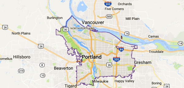 Portland, OR Map - Event Technology Rentals